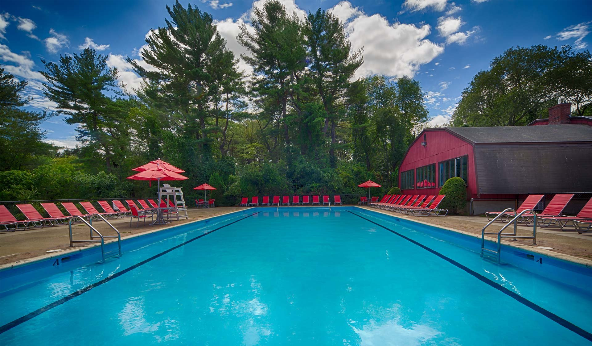 Waterford Village Apartments in Bridgewater, MA - Large Swimming Pool